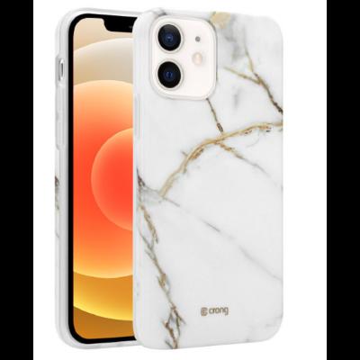 Crong Marble Θήκη Σιλικόνης Apple iPhone 12 mini - White (CRG-MRB-IP1254-WHI)