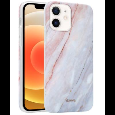 Crong Marble Θήκη Σιλικόνης Apple iPhone 12 mini - Pink (CRG-MRB-IP1254-PNK)