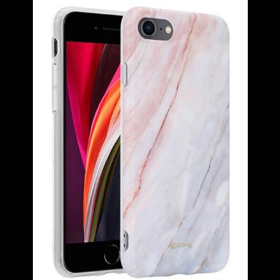 Crong Marble Θήκη Σιλικόνης Apple iPhone SE 2020 / 8 / 7 - Pink (CRG-MRB-IP8-PNK)