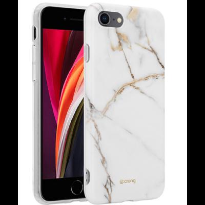 Crong Marble Θήκη Σιλικόνης Apple iPhone SE 2020 / 8 / 7 - White (CRG-MRB-IP8-WHI)