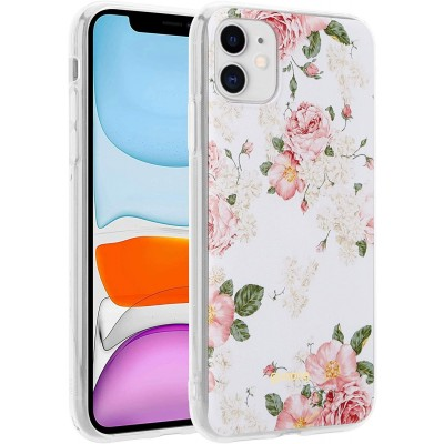 Crong Flower Θήκη Σιλικόνης Apple iPhone 11 - Pattern 02 (CRG-FLR-IP11-02)
