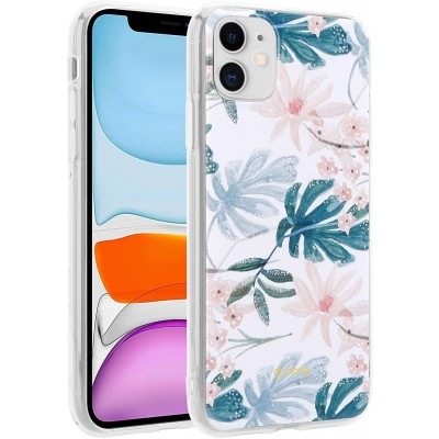 Crong Flower Θήκη Σιλικόνης Apple iPhone 11 - Pattern 01 (CRG-FLR-IP11-01)