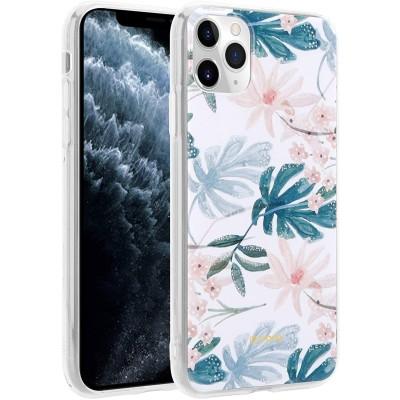 Crong Flower Θήκη Σιλικόνης Apple iPhone 11 Pro - Pattern 01 (CRG-FLR-IP11P-01)