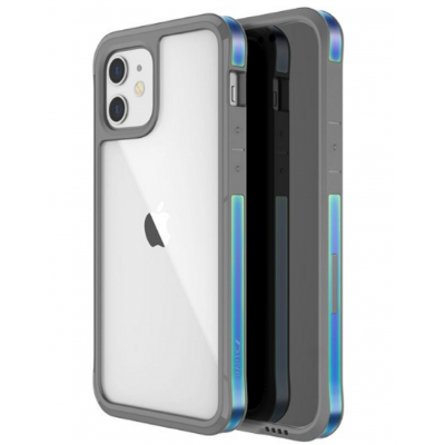 X-Doria Raptic Edge Ανθεκτική Θήκη Αλουμινίου Apple iPhone 12 mini - Iridescent (370402735004)