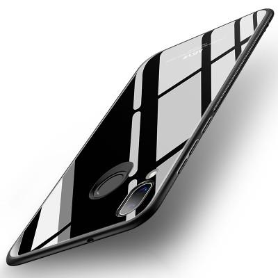 MSVII tempered glass θήκη σιλικόνης μαύρη για Huawei P20 Lite