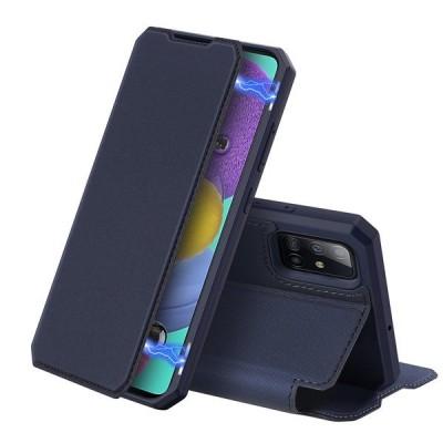 DUX DUCIS Skin X Wallet Case Θήκη Πορτοφόλι με Stand για Samsung Galaxy A51 - Blue (200-105-979)