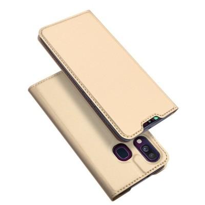 Duxducis SkinPro Flip Θήκη για Samsung Galaxy A40 - Χρυσό (200-103-814)