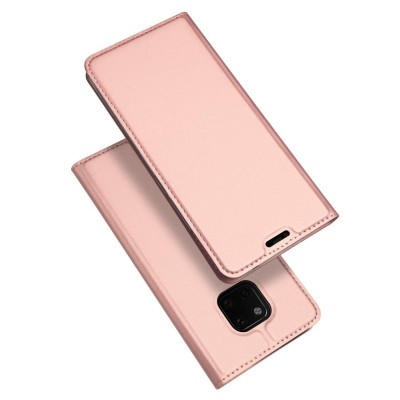 Duxducis SkinPro Flip Θήκη για Huawei Mate 20 Pro -Rose Gold
