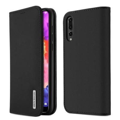 Δερμάτινη θήκη-πορτοφόλι για Huawei P20 Pro μαύρη από τη Dux Duxis