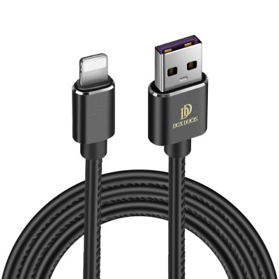 Duxducis Καλώδιο Φόρτισης και Μεταφοράς Δεδομένων USB σε Lightning 100cm - Μαύρο (200-103-820)