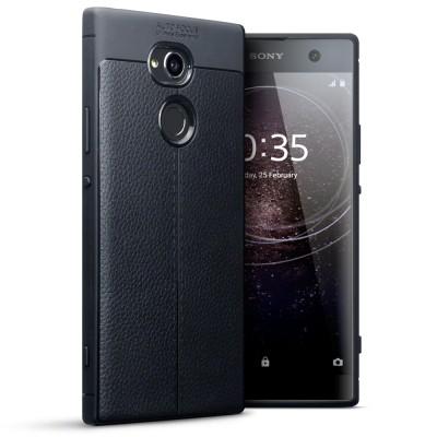 Terrapin Θήκη TPU Leather Design Sony Xperia XZ2 Compact - Black