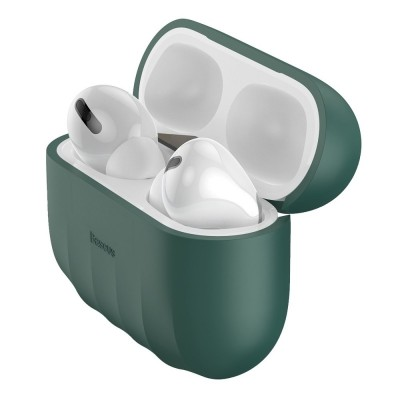Baseus Shell Pattern Θήκη Σιλικόνης για Apple AirPods Pro - Green  (200-106-621)