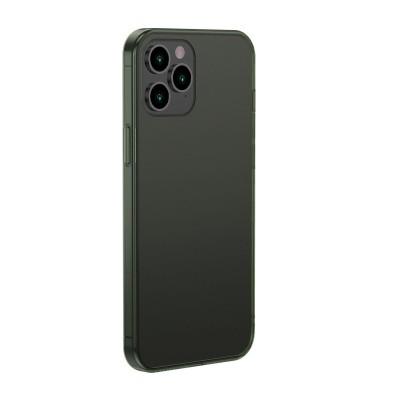 Baseus ημιδιαφανή πράσινη θήκη Frosted για iPhone 12 Pro Max (200-107-237)