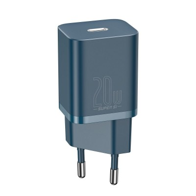 Baseus Super Si Quick Charger 1C - Φορτιστής Ταξιδιού με Type-C x1 - 20W - Blue (CCSUP-B03) (200-108-612)