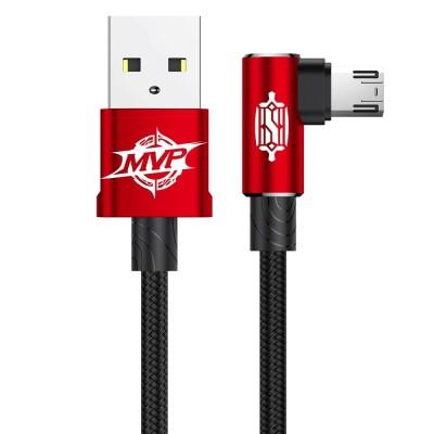 Baseus Καλώδιο Γωνιακό micro USB  1.5A 2m CAMMVP-B01 - Black (200-105-581)