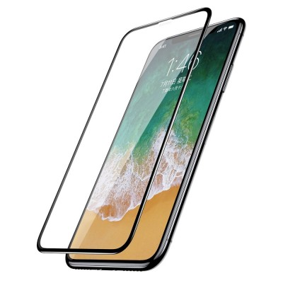 Baseus 3D Full Cover Tempered Glass για Apple iPhone 11 Pro/ X/XS (2pcs) – Black (200-106-017)