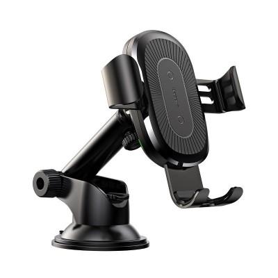 Baseus Wireless Charger Βάση Στήριξης με Τηλεσκοπικό Βραχίωνα + Qi Charger black (WXYL-A01) - (200-108-610)