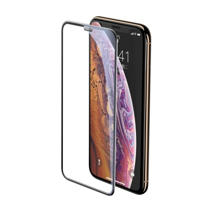 Baseus Full Cover 3D Curved Tempered Glass για Apple iPhone 11 Pro Max / XS Max - Black (200-108-335)