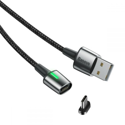 Baseus Μαγνητικό Καλώδιο Φόρτισης / Μεταφοράς Δεδομένων USB to Type-C 100cm - Black (200-104-195)