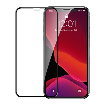 Baseus 3D Full Cover Tempered Glass για Apple iPhone XR/11 (2pcs) – Black (200-106-139)