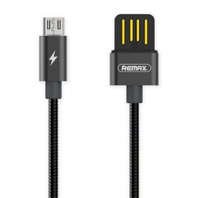 Καλώδιο USB/Micro USB με μεταλλική επένδυση RC-080m 1m- Black by Remax