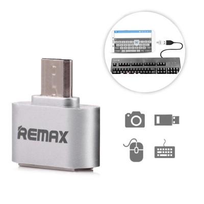 Remax Αντάπτορας καλωδίου OTG USB σε Micro USB - Silver (200-104-899)