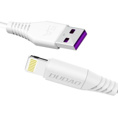 Dudao USB / Lightning fast charging data cable 5A 1m white (L2L 1m white) - (200-105-098)