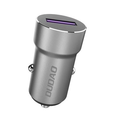 Dudao R4 Pro Universal Φορτιστής Αυτοκινήτου USB Quick Charge 5.0 5A 22.5W - Grey (200-106-175)