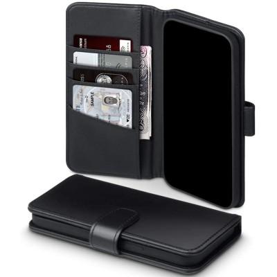 Terrapin Δερμάτινη Θήκη - Πορτοφόλι Apple iPhone 12 / 12 Pro - Black (117-134-001)