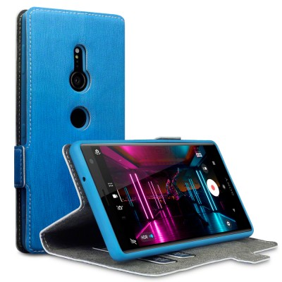 Terrapin Low Profile Θήκη - Πορτοφόλι Sony Xperia XZ2 - Light Blue