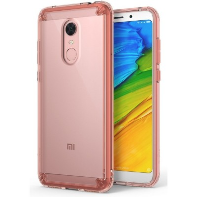 Ringke (Fusion) Θήκη Xiaomi Redmi 5 Plus με TPU Bumper - Rose Gold/Clear