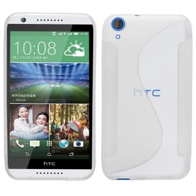 Θήκη σιλικόνης για HTC 820 Ημιδιάφανη λευκή