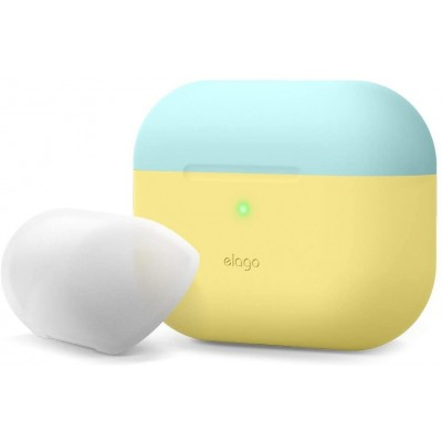 Elago AirPods Pro DUO Case - Θήκη Με Διπλό Καπάκι AirPods Pro - Pastel Green / White / Peach (EAPPDO-PGR-CWHPE)