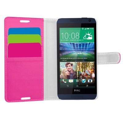 Θήκη- Πορτοφόλι για HTC Desire 610 ρόζ