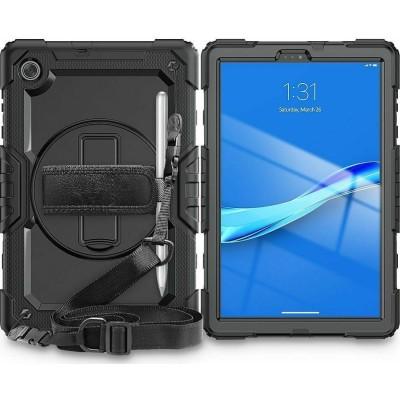 "Tech-Protect Ανθεκτική Θήκη Solid 360 με Λαβή / Backstand / Ζώνη Μεταφοράς - Samsung Galaxy Tab A7 Lite 8.7"" T220 / T225 - Black (6216990212000)"