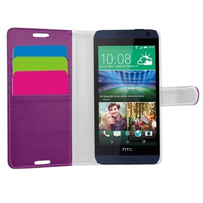 Θήκη- Πορτοφόλι για HTC Desire 610 μωβ
