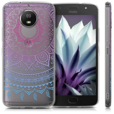 Θήκη σιλικόνης Indian Sun Blue Dark Pink για Motorola Moto G5S