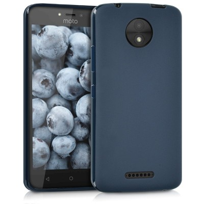 Θήκη σιλικόνης μπλε για Motorola Moto C by KW