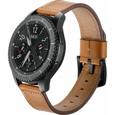 Tech-Protect Δερμάτινο Λουράκι Herms - Samsung Galaxy Watch 3 45mm - Brown (73254)