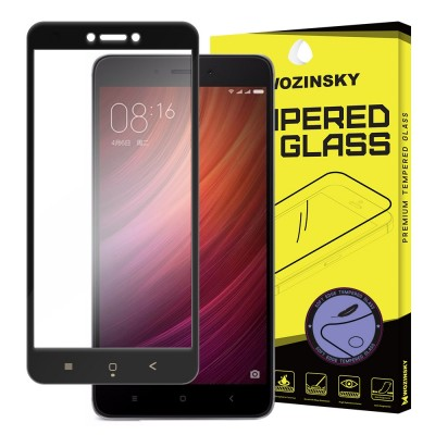Wozinsky Full Cover Tempered Glass with Soft Frame για Xiaomi Redmi 4X Black (200-104-496)