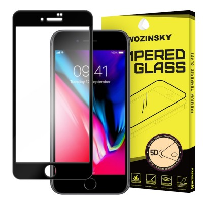 Wozinsky Full Cover Tempered Glass Full Glue Black για iPhone 8 Plus / 7 Plus (200-104-791