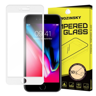 Wozinsky Full Cover Tempered Glass Full Glue White για iPhone 8 Plus / 7 Plus (200-106-993)