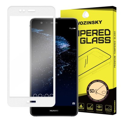 Wozinsky Full Cover 5D Tempered Glass Black για Huawei P10 Lite - White