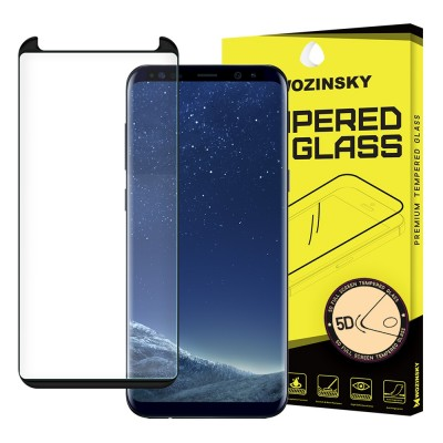 Wozinsky Full Cover 5D Tempered Glass Black για Samsung Galaxy S8 Plus - Black