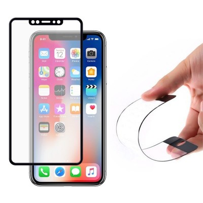 Wozinsky Full Cover Flexi Tempered Glass Black Edge για iPhone XS/X