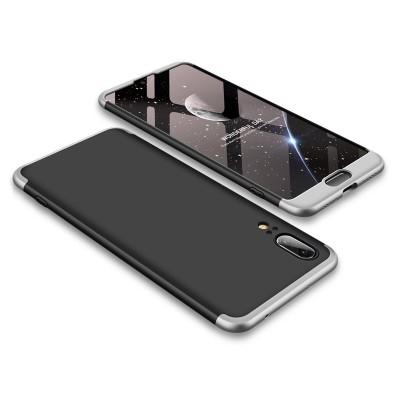 Full Body θήκη για Huawei P20 μαύρη-ασημί