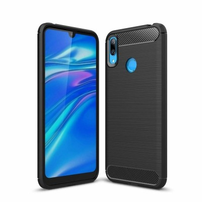 OEM Θήκη Σιλικόνης Carbon Fibre Huawei Y6 2019 - Black (200-106-151)
