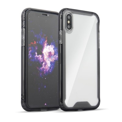 OEM Clear Armor Case with TPU Bumper for Huawei Y7 2019 / Y7 Prime 2019 black (200-105-679)