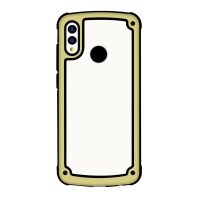 Solid Frame PC Case with TPU Bumper for Huawei Y7 2019 / Y7 Prime 2019 golden (200-105-677)