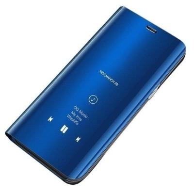 Θήκη Clear View Standing Cover για Huawei Y5 (2019) - Μπλε  OEM (200-105-971)